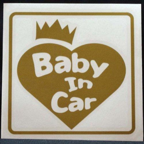 ≪新品≫ステッカーデカールベビーインカー赤ちゃんが乗ってますBABYINCARクラウン・ハートゴール