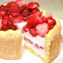 【誕生日ケーキ・バースデーケーキ(アイスケーキ)】フローズンいちごと生乳アイスクリームのアイスデコレーションケーキ(6号)【誕生日 誕生祝い 記念日 ケーキ バースデー デコレーション アイス アイスクリーム アイスクリームケーキ デコレーションケーキ】