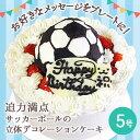 【誕生日ケーキ・バースデーケーキ】サッカーボールの立体 デコレーションケーキ 5号【誕生日 誕生祝い 男の子 サッカー 記念日 キャラクター ケーキ バースデー ショートケーキ】