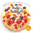 フローズンフルーツと生乳アイスクリームのアイスデコレーションケーキ6号【卵アレルギー対応】【プレート対応】誕生日ケーキアイス子供バースデー記念日プレゼント