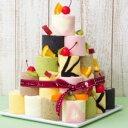新杵堂 積み上げて楽しい♪ ロールケーキタワー 9個入り(キャンドル付き) 誕生日 お祝 バースデー