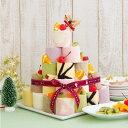 クリスマス限定 ロールケーキタワー(キャンドル付き) クリスマスケーキ スイーツ パーティー ケーキ ロールケーキ タワー 人気