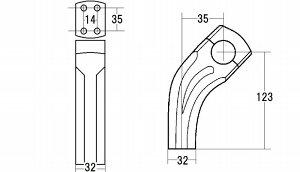 ビレットブロックライザー1インチハンドル用アメリカンドラッガーズ(AmericanDragers)