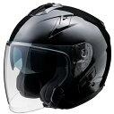FH-003 TURISMOヘルメット ブラック Mサイズ インナーバイザー付ジェットヘルメット FiORE:(フィオーレ)