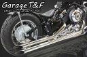ドラッグスター400(DRAGSTAR)キャブ車 ロングドラッグパイプマフラー(タイプ1) ガレージT&F