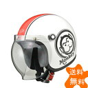 HONDAモンキーヘルメット ホワイト/レッド Lサイズ(ジェットタイプ) HONDA(ホンダ)