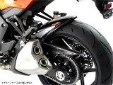 Ninja1000(ニンジャ)14年〜 Hugger メッシュド・インナーフェンダー (ブラック/シルバーM タイプA) Powerbronze(パワーブロンズ)
