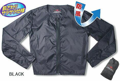 防風インナージャケット ブラック Sサイズ ラフ...の商品画像