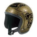 スモールブコ グレイトフルデッド・ブコ ゴールドメタルフレーク XSサイズ(ジェットヘルメット) BUCO(ブコ)