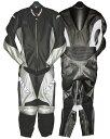 SPS-106PD レーシングレザースーツ ブラック/シルバー 4Lサイズ SPOON(スプーン)