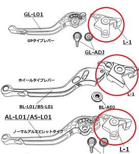 BUELLLIGHTNINGX1(ライトニング)(98〜02年)補修用アルミビレットレバー取付アタッチメントクラッチ側U-KANAYA