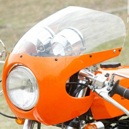 FRPロケットカウルセット 黒ゲルコート仕上げ WM(ダブルエム) SR400:バイク用品・パーツのゼロカスタム