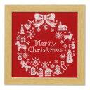 ショッピングクリスマスリース オリムパス クリスマス クロスステッチししゅうキット クリスマスリース X-100・レッド