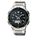 カシオ CASIO アナログ×デジタル ソーラー 腕時計 AQS800WD-1E≪良品返品不可≫