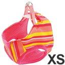 ヤマヒサ 犬用胴輪 ペティオ ARFashion アルファッション ストライプベストハーネス XS ピンク ミニ犬用