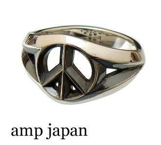 amp japan(アンプジャパン)【16AC-203 スモール】 ピースマーク リング (指輪)【シルバー925/】【9号 13号】【ギフト包装-対応】