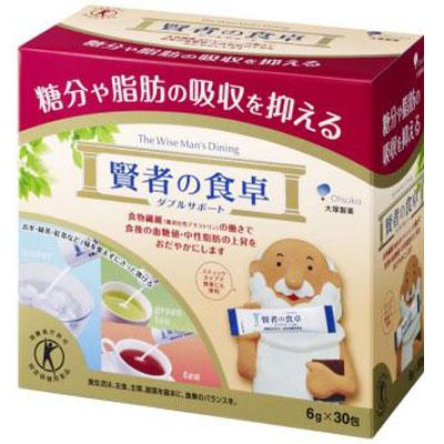 3箱セット 飲み物に混ぜるだけで脂肪と糖の吸収をブロック トクホ 賢者の食卓 ダブルサポート 6g×30包 大塚製薬 02P03Dec16
