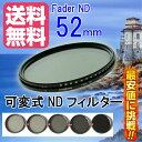 【FOTOBESTWAY】  可変式NDフィルターFader NDフィルター52mm