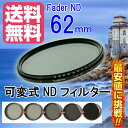 【FOTOBESTWAY】  可変式NDフィルターFader NDフィルター62mm