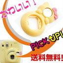 チェキ instax mini8 8s 8+ 8 プラス mini7s 用 自撮りミラー付き 接写レンズ クローズアップレンズ Close-up lens【ネコ イエロー】