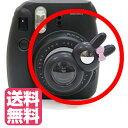 チェキ instax mini8 mini7s mini8+mimi9 チェキ9 用 自撮りミラー付き 接写レンズ クローズアップレンズ Close-up lens【ブラック】