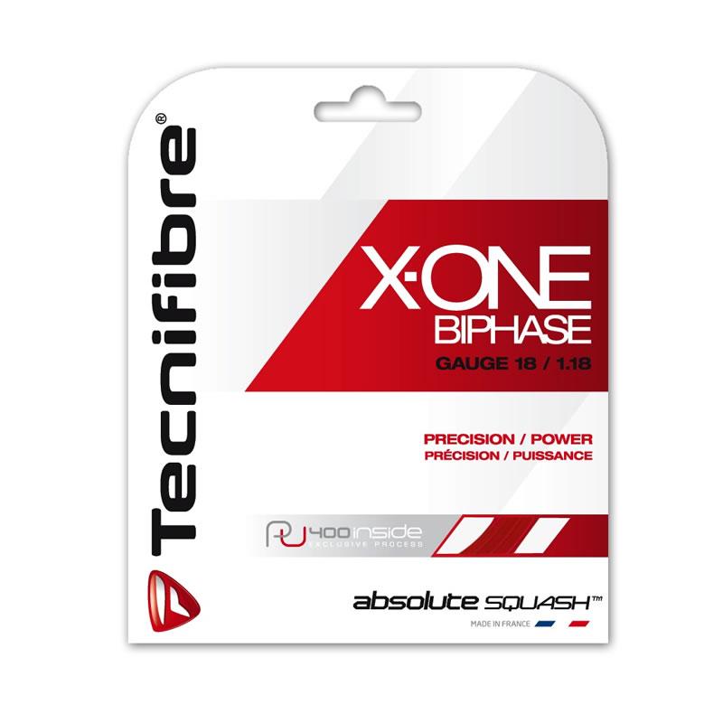 スカッシュ ストリング スカッシュ ガット Tecnifibre(テクニファイバー)スカッシュストリング X-One Biphase(φ1.18) 2カラー【あす楽対応】【ポスト投函(送料無料)】