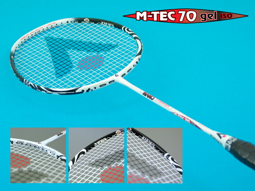 M-TEC 70 GEL TOURKARAKAL(カラカル)バドミントンラケット【送料無料(沖縄・離島は除く)】【あす楽対応】【ガット代&張り代無料】
