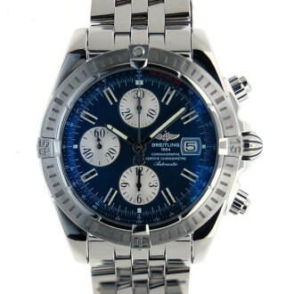 Brightman ring BREITLING Kurono mat evolution A156C45PA self-winding watch blue USED