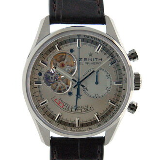Zenith ZENITH Chrono master open power reserve 03.2080.4021/01.C494 SS silver leather D buckle brand new