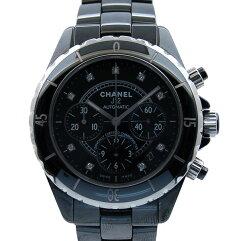 CHANEL【シャネル】 クロノグラフ 9Pダイヤ J12 腕時計 /セラミック メンズ