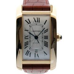 CARTIER【カルティエ】 アメリカンXL  タンク 腕時計 /革 レディース