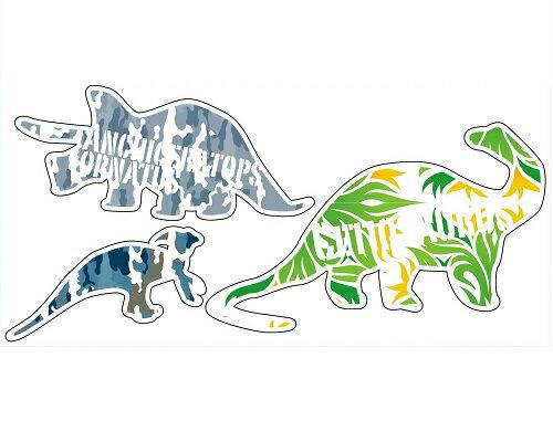 Reflector sticker【恐竜2】反射シール リフレクター ステッカー【メール便可】