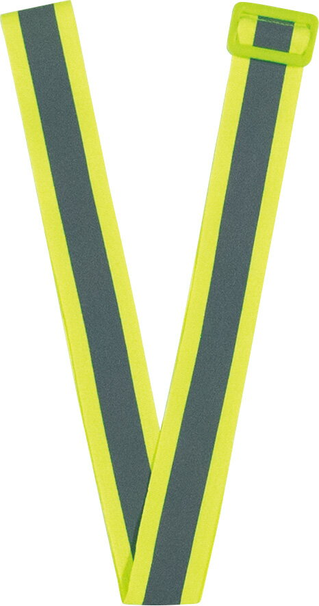 高輝度反射 バックル付 黄色反射タスキ 蛍光黄色 メール便可