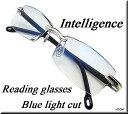 [ZIG's]◆知的&クール・高級感 〜 リムレス(縁なし)/老眼鏡(リーディンググラス)/ブル
