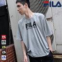 《エントリーでP7倍》FILA Tシャツ Tee メンズ レディース カットソー 半袖 クルーネック ロゴ プリント ビッグシルエット オーバーサイズ フィラ ZIP FIVE ジップファイブ 夏 夏服 夏物 (fh7528) #