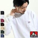 Tシャツ Tee メンズ カットソー 長袖 ロンT ポケット付き ポケT ポケットTシャツ ワンポイント ワッペン BEN DAVIS ZIP ジップ 冬 冬物 冬服(c-0380904)