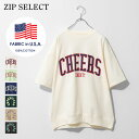 Tシャツ メンズ カットソー 半袖Tシャツ 半袖 カレッジロゴ ロゴ USAコットン ZIP ジップ 夏 夏物 夏服(q21-159-21t)#