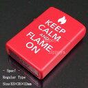 【ZIPPO】ジッポ/ジッポー KEEP CALM AND FLAME ON ロゴレッド マット 28671