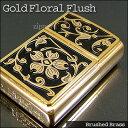 ZIPPO ジッポ ライター ジッポライター Gold Floral Flush Emblem 和柄 20903
