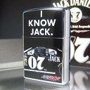 【即納】【アルコール】【乗り物】【楽ギフ_名入れ】Zippo I Know Jack ジャックダニエル ウィスキー ジッポ ZM1128