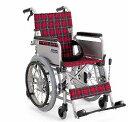 自走式(自繰式)車椅子 カワムラサイクル KAK18-40B 軽量アルミ こまわりくん18 介助用