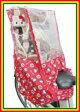 【リアシートカバー】シキシマ 「ハローキティ」リアレインカバー(ヘッドレスト付後ろ子供のせ用 風防レインカバー ) 自転車用カバー