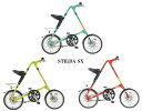 ●フロントライト、ロングワイヤー錠サービス STRiDA SX(ストライダ エスエックス) 18インチ 折り畳み自転車 純正キックスタンド、純正輪行袋(ST-BB-007)付属 【送料無料(一部地域除く)】