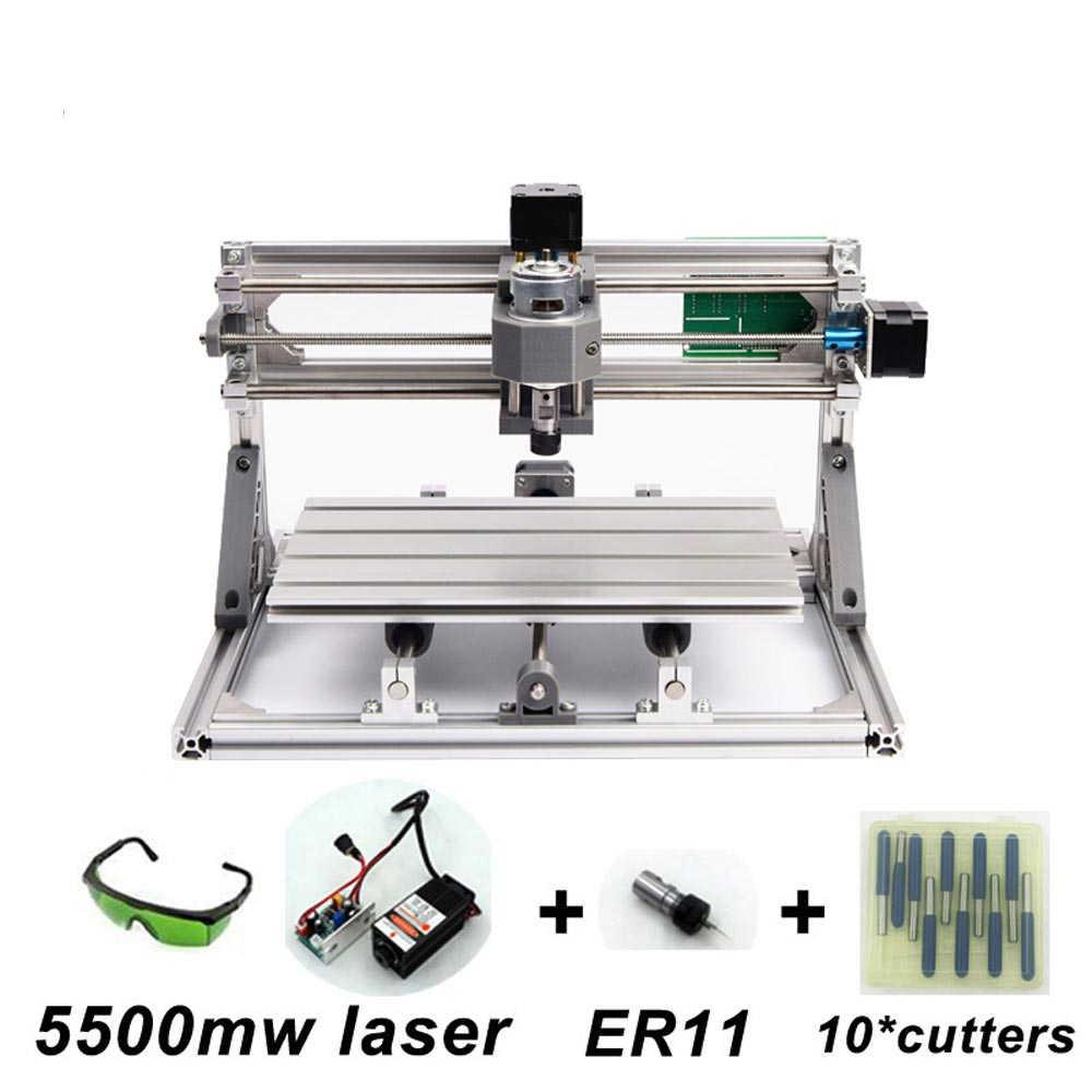 USBCNC3018ルーター+5500mW+ER11レーザー加工機ソフトオリジナル日本語説明書つき