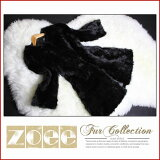 【zoeeの毛皮】シンプルデザイン ミンクファーコート k0300bk ブラック【05P01Feb15】