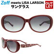Zoff meets LISA LARSON E-1(レッド)【ユニセックス オーバル ゾフミーツリサラーソン サングラスマイキー 赤 UVカット 紫外線対策 メンズ レディース】