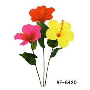 【造花 ハイビスカス】ラージハイビスカスピック 全長25cm 6420
