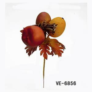 全長14cm【フルーツミックスピック】VE-6856*艶消し実付(アップル付)(実径/約2.5〜2.8cm*全長約14cm*幅/径約7cm)アレンジやリース等のハンドメイドに