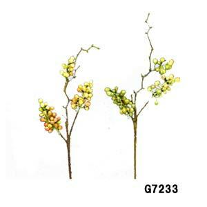 全長約45cm*実径約0.6〜1cm【スパロウベリーピック/GR】G7266-26当店在庫のみ【造花】【ベリーピック】