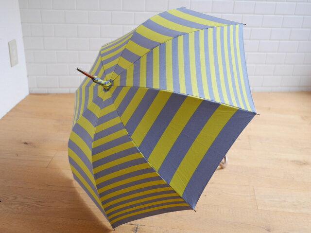 【送料無料】【cocca】晴雨兼用傘 傘 日傘 UVカット  ギフト shima-uma イエロー×グレー 雨の日も楽しくなる傘です!斎藤あおい
